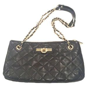 DKNY creamy black quilted 1 or 2 chain strap bag